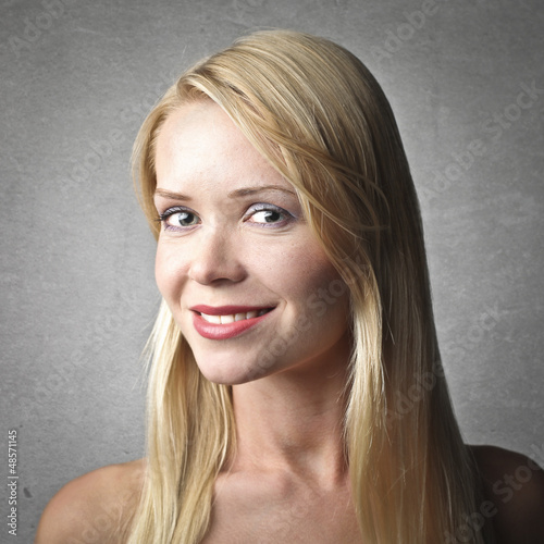 portrait of blonde woman