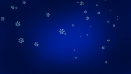 Snowfall, blue background