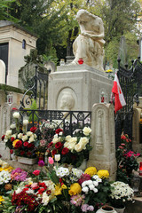 Tomb of Frederic Chopin, Pere Lachaise cemetery in Paris
