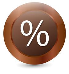 Vektor Button Prozent