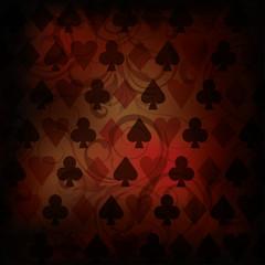 Vintage Poker background, vector illustration
