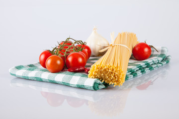 Spaghetti, ingredients for Italian cooking