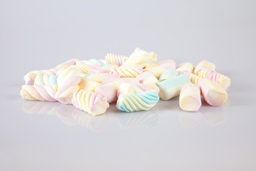 stack of colorful marshmallows