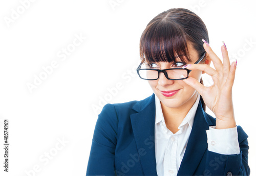 Attractive formal young businesswoman with spectacles