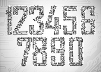 Circuit board digits