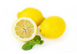 Lemon fruits on white background