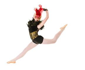 Ballerina with Back Attitude Jump