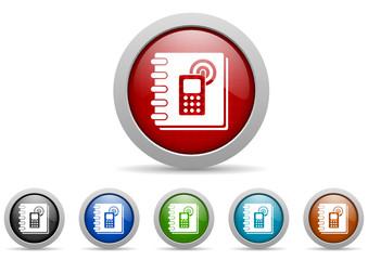 phonebook vector icon set
