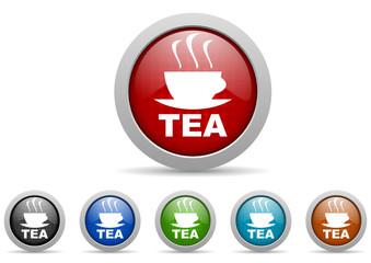 tea vector icon set