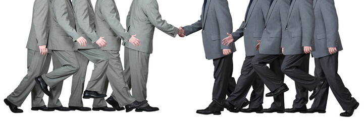 Two Businessmen Shake Hands