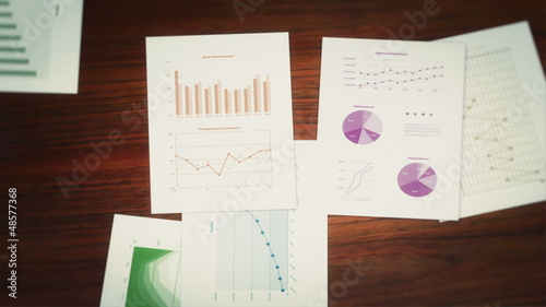 Business Charts and Infographics Seamless Background Loop
