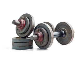 Old exercise hand weights