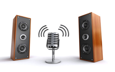 microphone and speakers