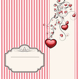 Vintage valentine card or wedding invitation .Fully editable.