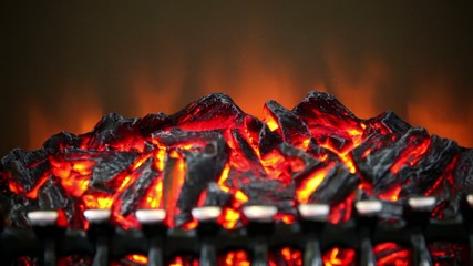 Artificial smoldering embers with amount of fire
