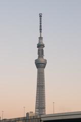 黄昏の東京スカイツリー