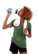 Thirsty Fitness Woman