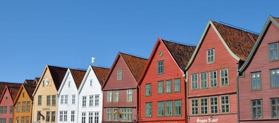 Historische Häuser und Geschäfte, Bryggen, Bergen, Norwegen