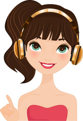 Headphones Girl