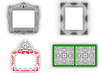Empty picture frame isolated