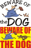 beware of the dog - warning sign poster
