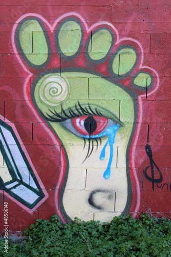 Graffiti Fuß