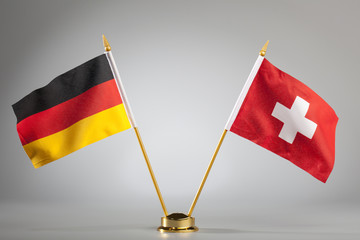 Flags of Germany and Switzerland