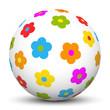 Kugel, Blumen, Frühling, Osterkugel, Ostern, Muster, Farben, 3D