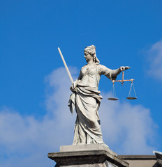 Lady Justice (Justitia) statue in Dublin