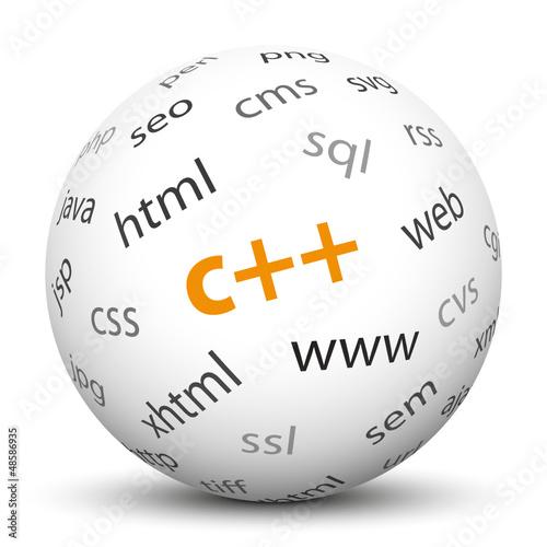 Kugel, C++, Programmiersprache, Sprache, Software, Programmierer