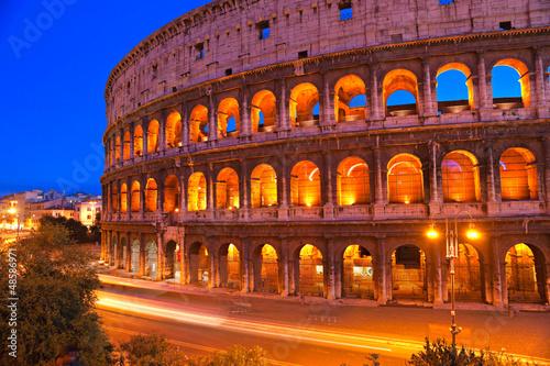 Panel Szklany The Majestic Coliseum, Rome, Italy.