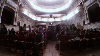 Audience fills the auditorium before musical of Istviksky
