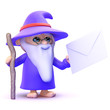 Wizard is handed an envelope