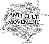 Word cloud for Anti-cult movement poster
