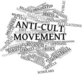 Word cloud for Anti-cult movement