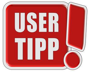 !-Schild rot quad USER TIPP