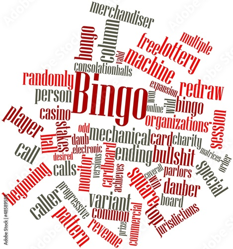 Word cloud for Bingo