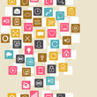 Social network background of SEO internet icons.