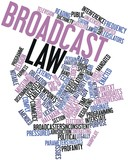 Word cloud for Broadcast law