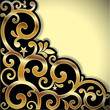 Vector background with a gold pattern.