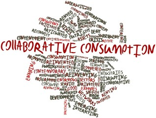 Word cloud for Collaborative consumption