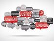 nuage de mots bulles : justice