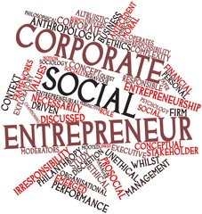 Word cloud for Corporate social entrepreneur