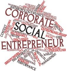 Word cloud for Corporate social entrepreneur