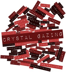 Word cloud for Crystal gazing