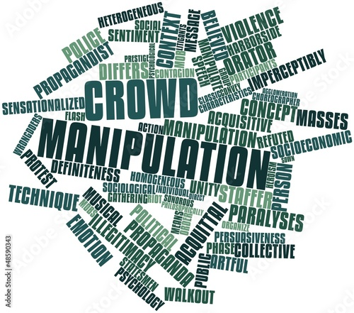 Word cloud for Crowd manipulation