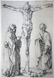 Lithography of Jesus on the cross by Albert Durer.