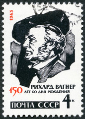 USSR - 1963 : shows Richard Wagner (1813-1883), German composers