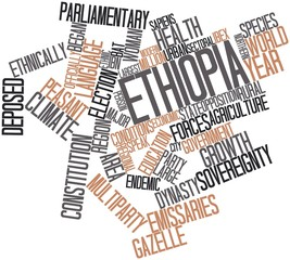Word cloud for Ethiopia