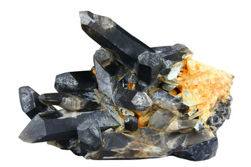 Brush of black quartz